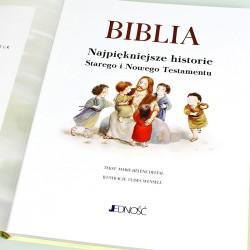 pamiątka chrztu świętego - biblia z dedykacją