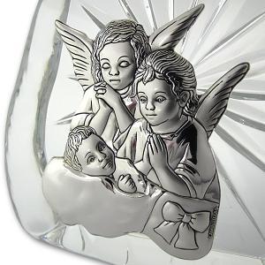 obrazek z aniołkiem na chrzest