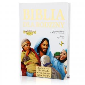 biblia z grawerem na prezent na chrzest
