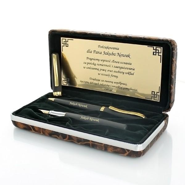 zestaw pióro i długopis Duke