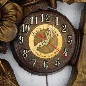 prezent dla pary zegar podkowa z grawerem