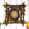 bambusowy zegar z grawerem dedykacji na prezent