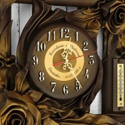 zegar bambusowy z personalizacją na prezent