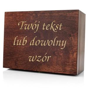 skrzynki drewniane z dedykacją na prezent