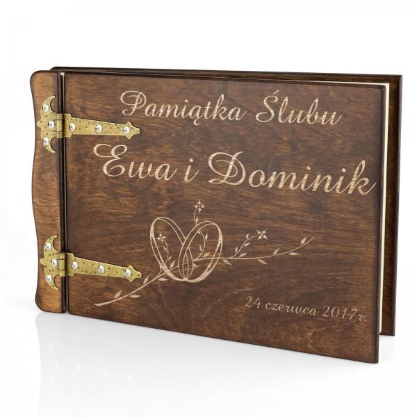 personalizowany album na pamiątkę ślubu