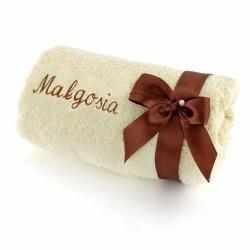ręcznik z haftem na prezent na święta