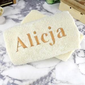 ręcznik bawełniany z  haftem imienia na prezent