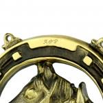 grawer inicjałów na podkowie na prezent dla pary