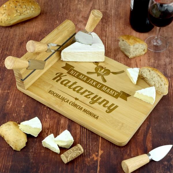deska do serów z nożami na prezent dla mamy