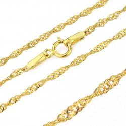 złoty łańcuszek na prezent dla dziecka