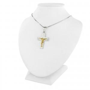 krzyżyk z grawerem na prezent na chrzest
