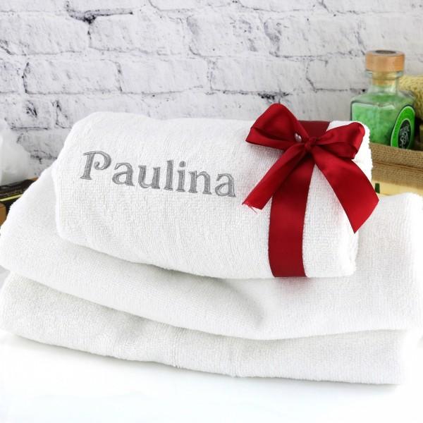 haftowany ręcznik na prezent dla niej