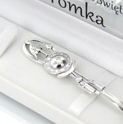 srebrna łyżeczka bocian