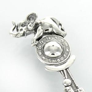 srebrna łyżeczka słonik