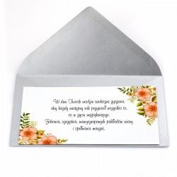 dodatek do prezentu - bilecik z życzeniami dla niej