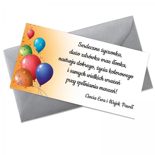 bilecik urodzinowy dla dziecka