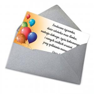 bilecik do prezentu dla dziecka