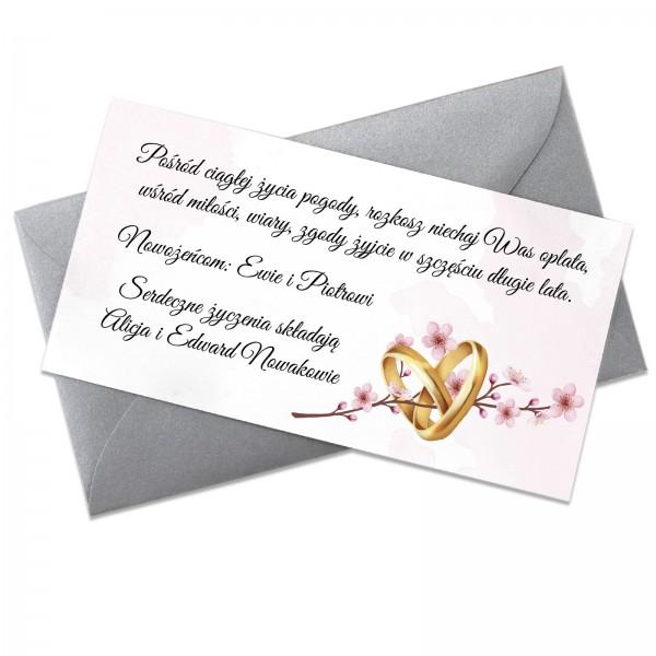 bilecik do prezentu dla nowożeńców