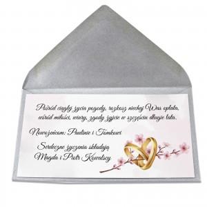 bilecik z życzeniami z okazji ślubu