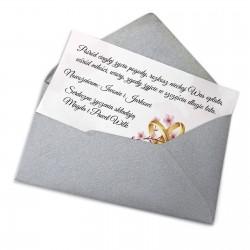 bilecik prezentowy na ślub