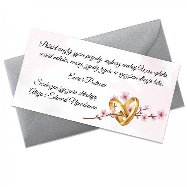 bilecik z życzeniami dla nowożeńców