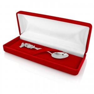srebrna łyżeczka na prezent na chrzest