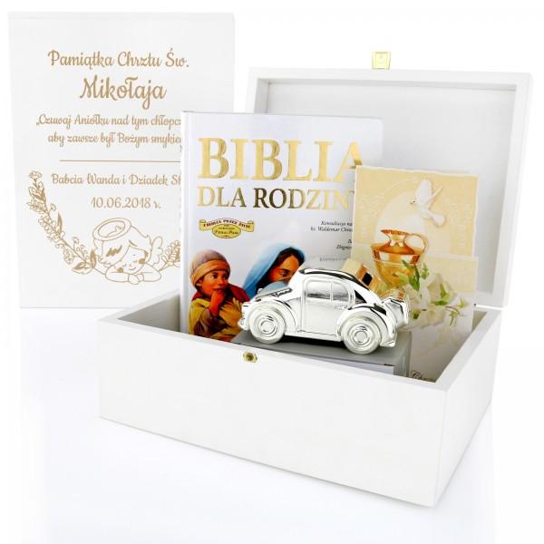 zestaw upominkowy na prezent na chrzest dla chłopca