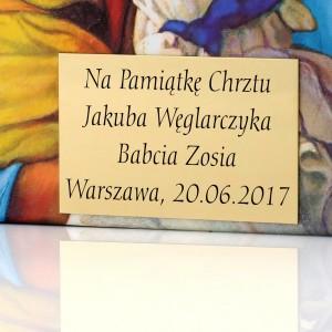 biblia z personalizacją na prezent na chrzciny