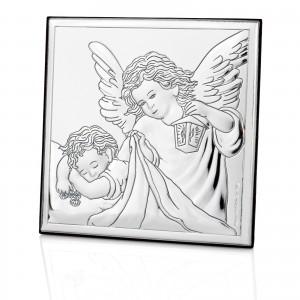 srebrny obrazek z okazji chrztu