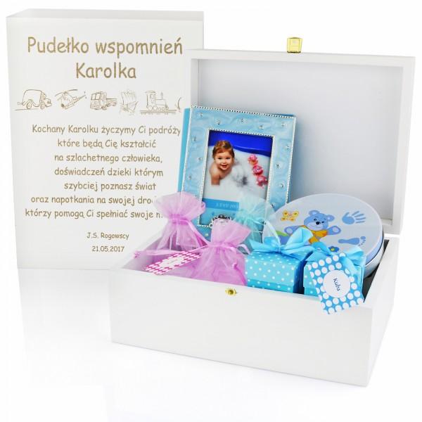 pudełko wspomnień z grawerem dla dziecka