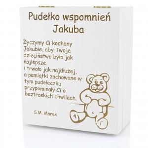 personalizowane pudełko wspomnień dla dziecka