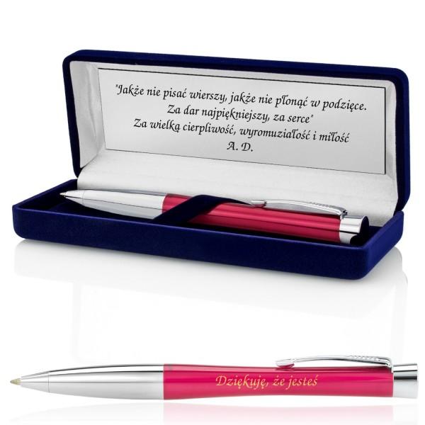 personalizowany długopis w pudełku z grawerem