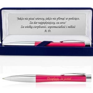 długopis parker z grawerem w pudełku z etui