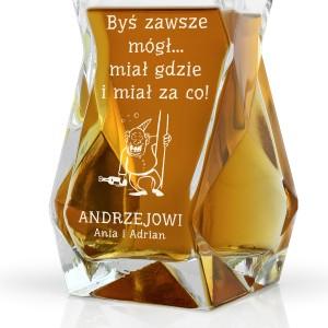 karafka z grawerem do whisky na prezent na urodziny