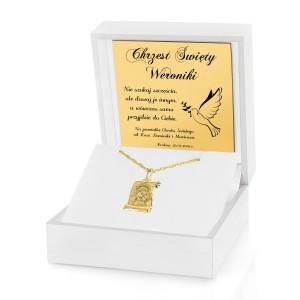 złota biżuteria na prezent na chrzest