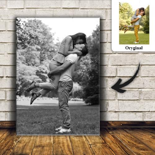 Prezent na dzień ojca foto obraz z Twoim zdjęciem