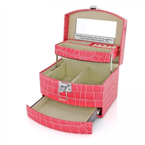 szkatułka na biżuterię na prezent