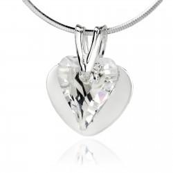 naszyjnik serce z kryształem swarovskiego