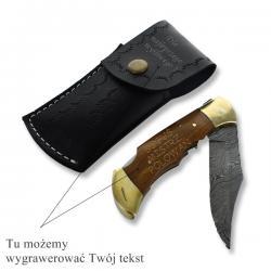 nóż składany w etui na prezent