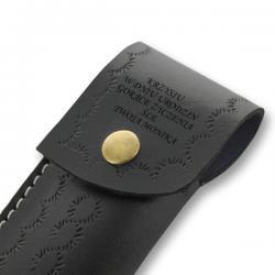 nóż ze stali damasceńskiej w etui