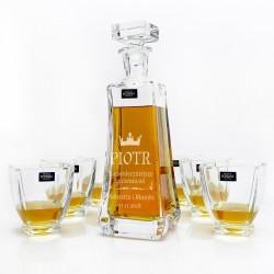karafka bohemia z zestawem szklanek na prezent z okazji imienin