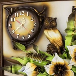 obrazy i zegary ze skóry na prezent