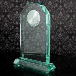 trofeum z zegarem prezent ślubny