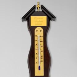 stacja pogody z termometrem i grawerem dedykacji na prezent na rocznicę ślubu