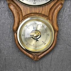 barometr w drewnie z indywidualną dedykacją