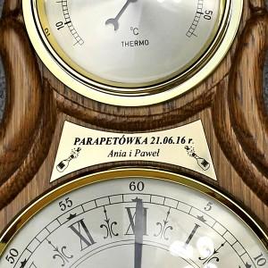 grawerowana dedykacja na stacji pogody