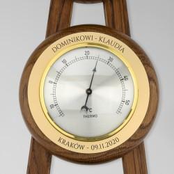 barometr stacja pogody z grawerem
