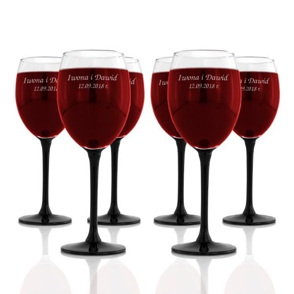 kieliszki do wina z grawerem