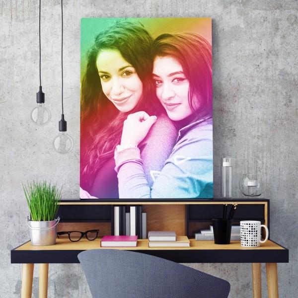 obraz na płótnie ze zdjęcia na oryginalny prezent rainbow