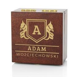drewniana szkatułka na scyzoryk z personalizacją